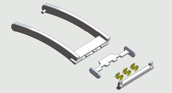 CAD file illustration of Whoop Inc wearable device manufactured by Protolabs