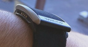 Whoop Inc black injection molded wearable device