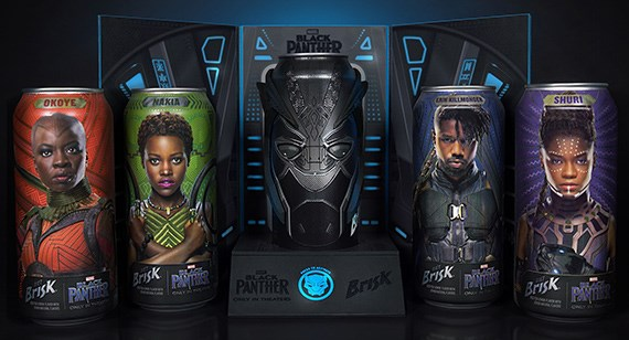 The Black Panther promotional kit brings to life the characters and costumes of the movie. The kit's designers combined several packaging technologies to produce unique textures and effects.