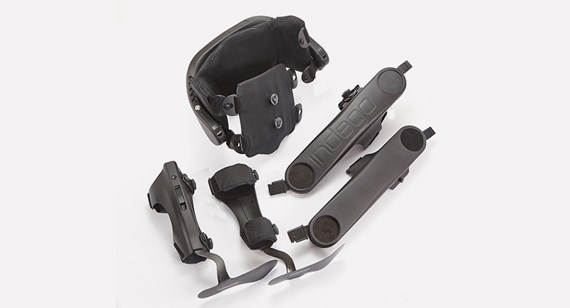 Parker Hannifin Exoskeleton injection moulded and machined parts produced by Protolabs