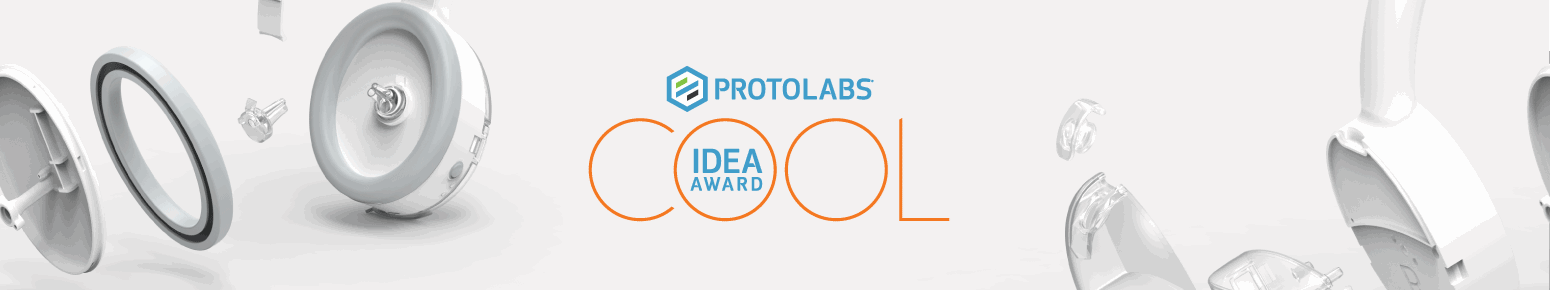 Protolabs Cool Idea Award Logo and Moulded Parts