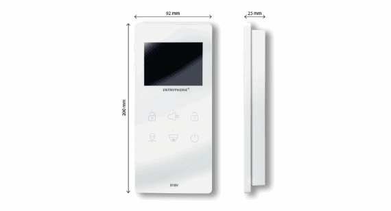 entryphone door entry system with measurements
