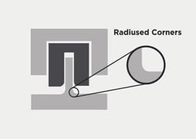 Example of radiused corners