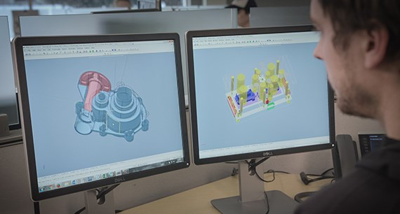 Analysing a 3D CAD for manufacturing